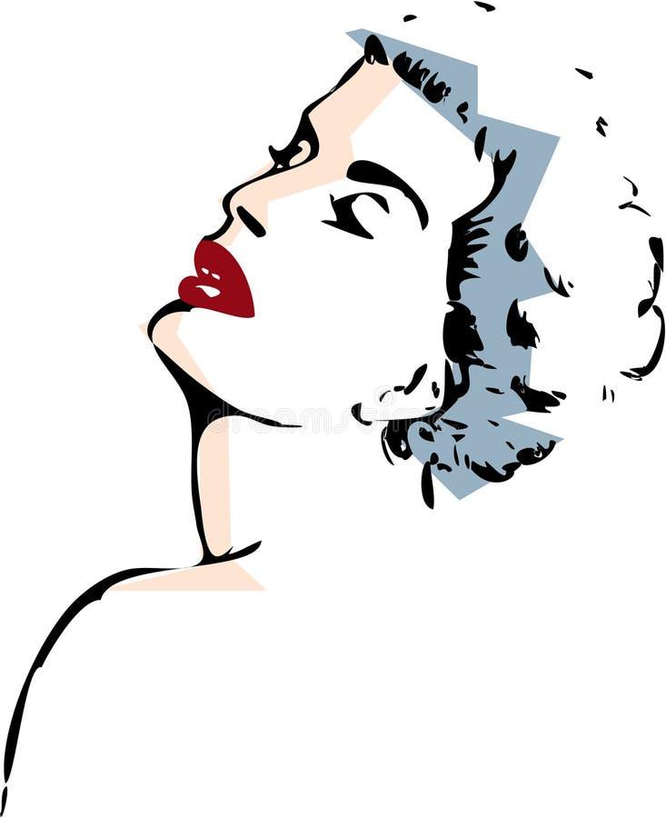Mulher na tinta ilustração stock