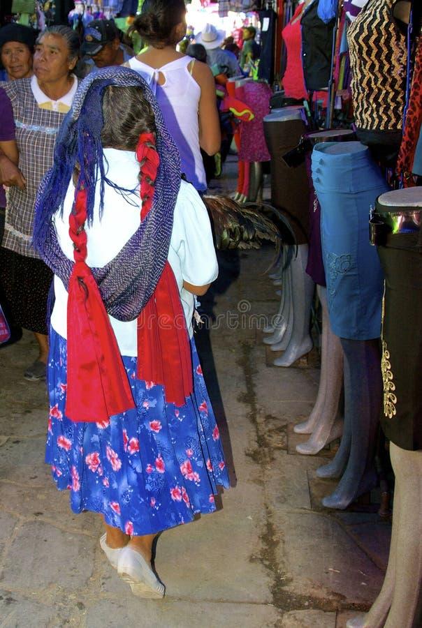 Mulher nativa do zapotec fotografia de stock
