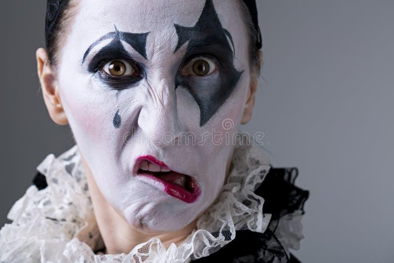 Mulher no arlequim do disfarce fotos de stock
