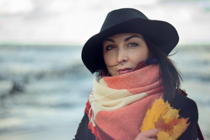 Mulher no chapéu imagens de stock