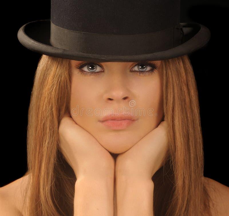 Mulher no chapéu. imagens de stock royalty free