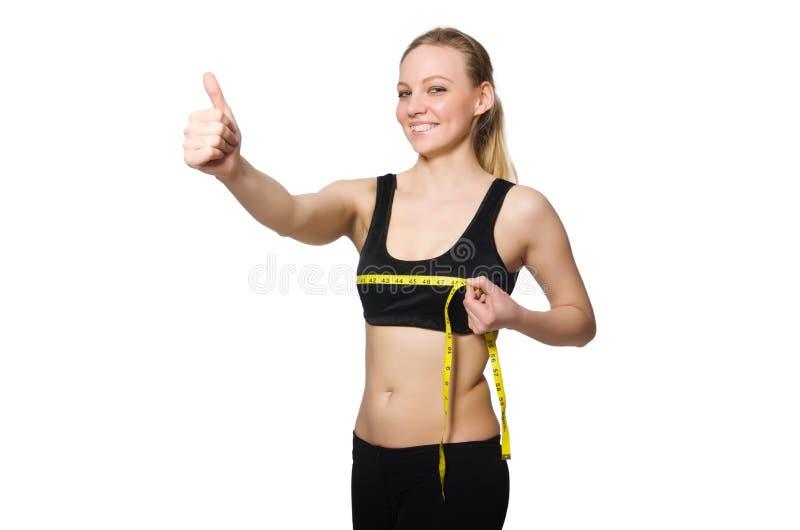 A mulher no conceito dos esportes imagens de stock royalty free