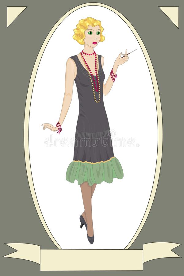 Download Imagem retro da mulher ilustração do vetor. Ilustração de adultos - 29845164
