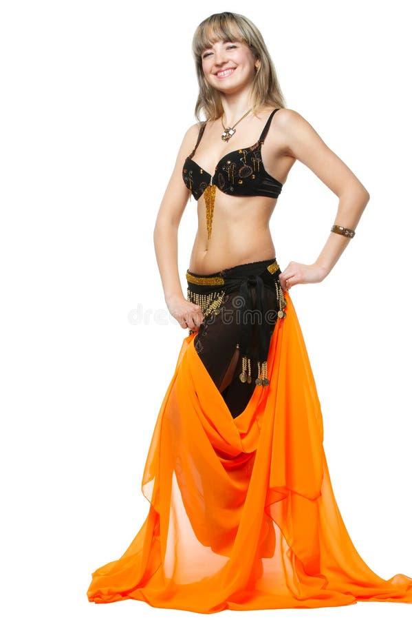 A mulher no terno de dança do leste fotografia de stock royalty free