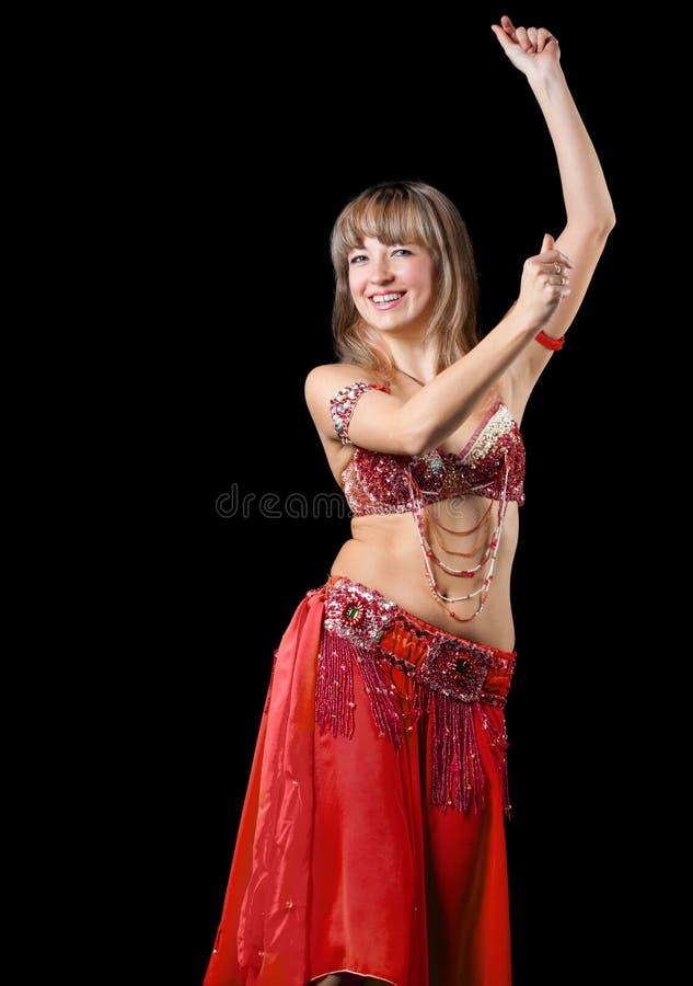 A mulher no terno de dança do leste imagens de stock
