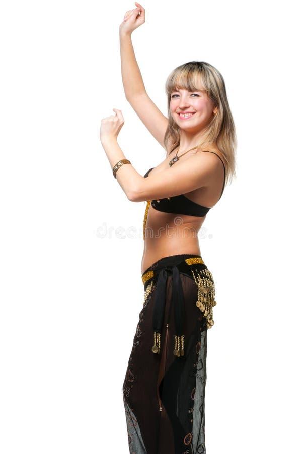 A mulher no terno de dança do leste fotografia de stock