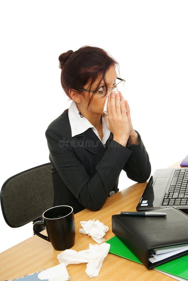 Mulher no trabalho imagens de stock