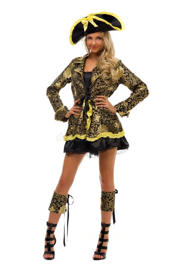 Mulher no traje do carnaval. Forma da imperatriz imagem de stock