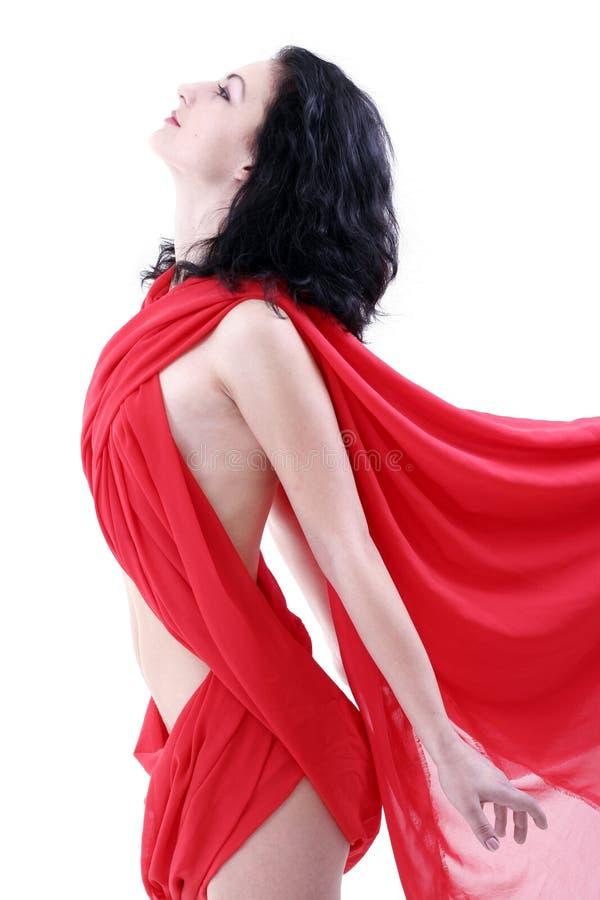 Download Mulher no vermelho foto de stock. Imagem de cuidado, noite - 536880