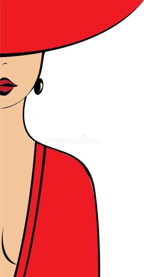 A mulher no vermelho fotos de stock royalty free