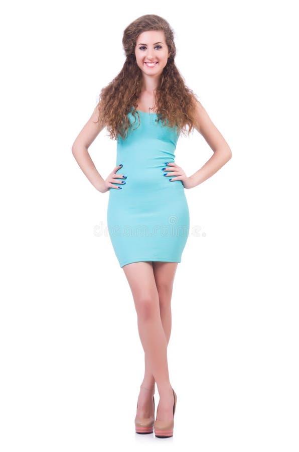 Mulher no vestido atrativo imagem de stock