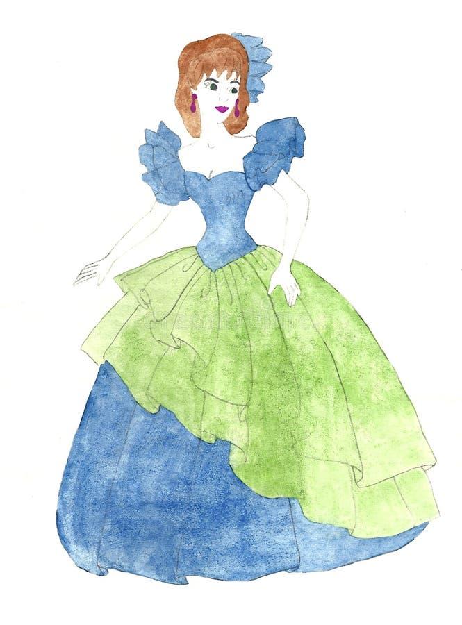 Mulher no vestido de bola fotografia de stock royalty free