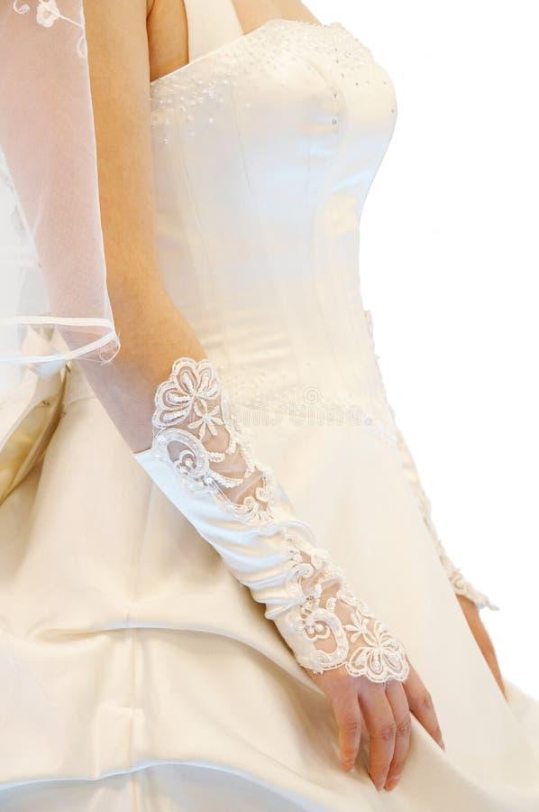 Mulher no vestido de casamento fotografia de stock royalty free