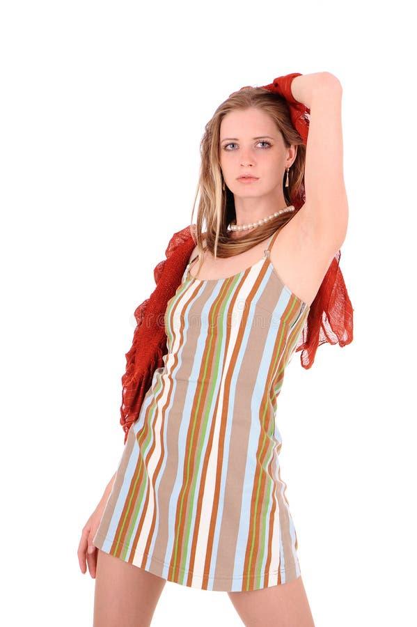 Mulher nos sundress imagens de stock royalty free