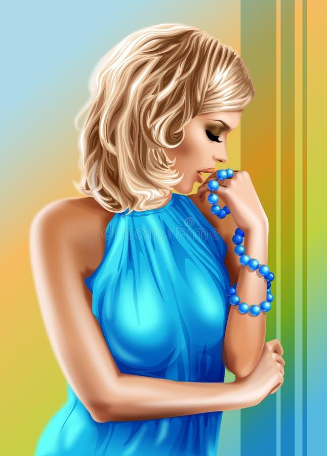 Mulher nova ilustração do vetor