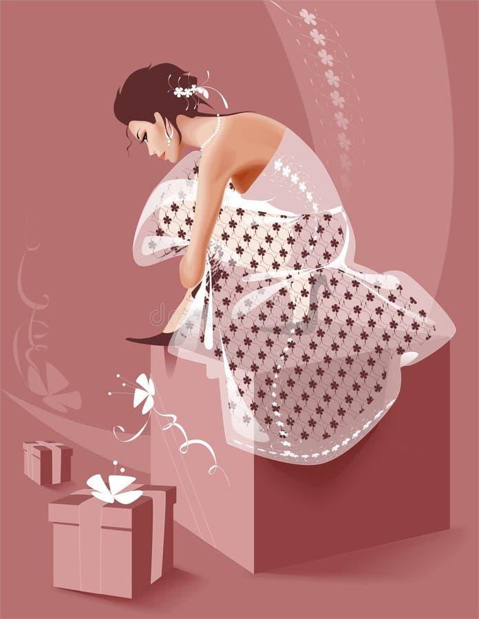 Mulher nova ilustração stock
