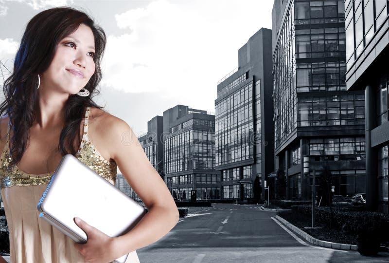 Mulher nova asiática imagem de stock