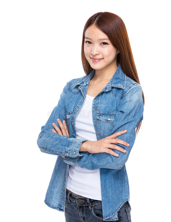 Mulher nova asiática fotos de stock royalty free