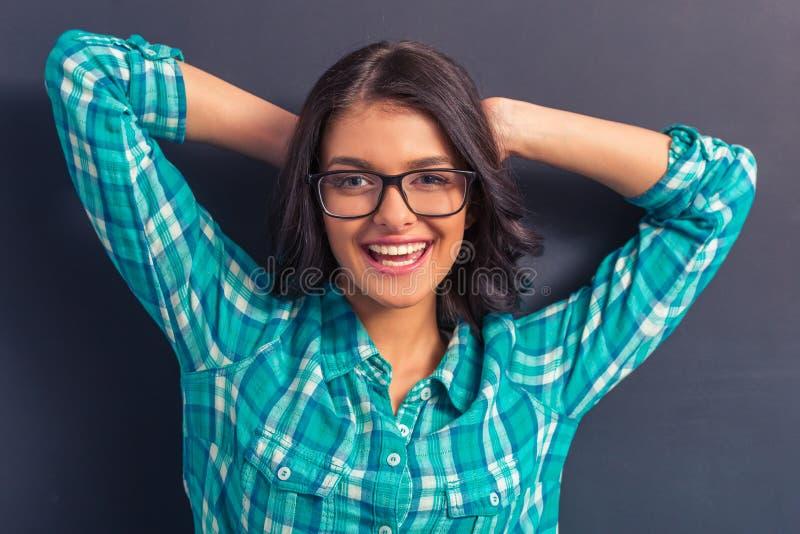 Mulher nova atrativa imagem de stock royalty free