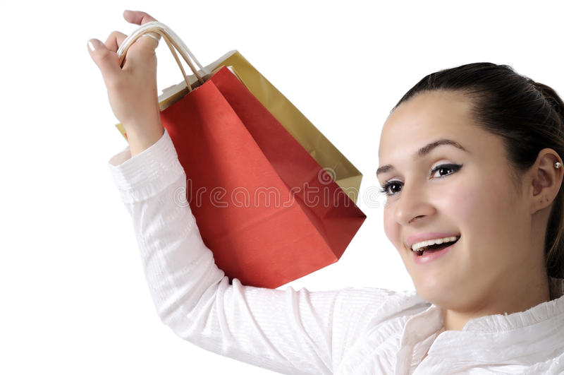 Mulher nova atrativa de compra foto de stock royalty free