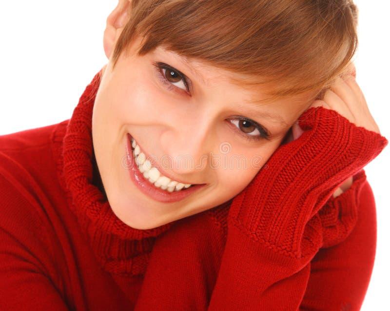 Mulher nova bonita de sorriso fotografia de stock royalty free