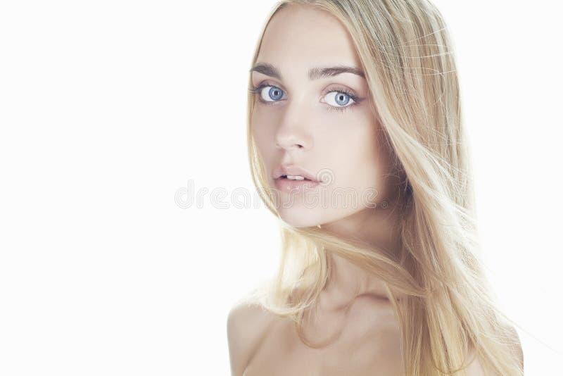 Mulher nova bonita Menina loura imagem de stock royalty free