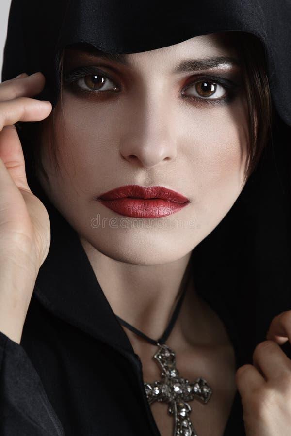 Mulher nova bonita retro imagem de stock royalty free
