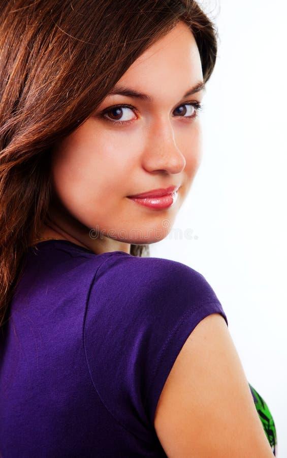 Mulher nova bonita sensual com pele limpa fotos de stock royalty free