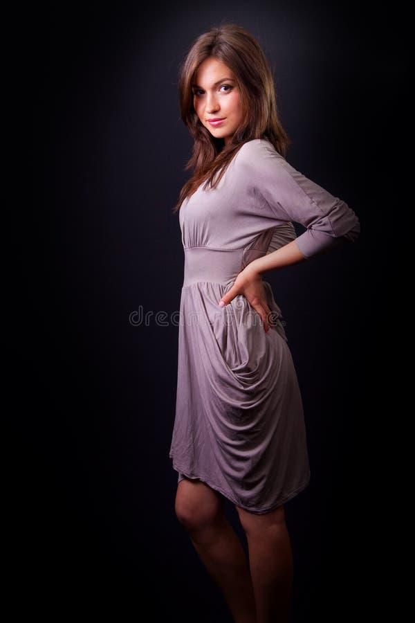 Mulher nova bonita sensual elegante imagem de stock royalty free