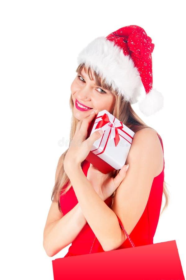 Mulher nova bonito feliz de sorriso foto de stock royalty free