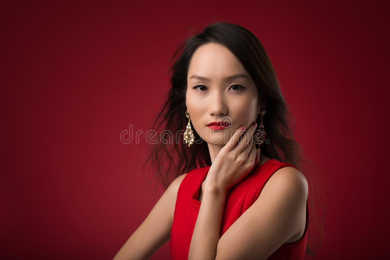 Mulher nova chinesa imagem de stock royalty free