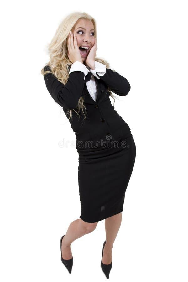 Mulher nova chocado fotografia de stock royalty free