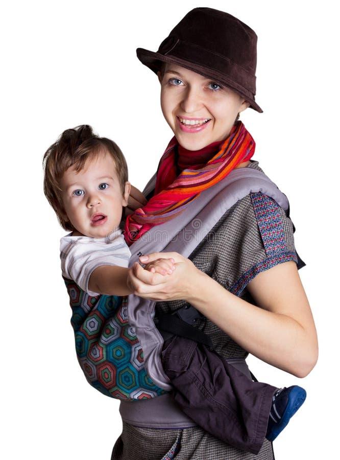 Mulher nova com criança foto de stock royalty free