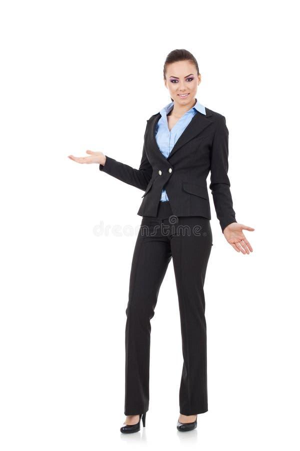 Mulher nova confusa fotografia de stock
