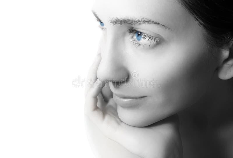 Mulher nova da beleza do retrato fotografia de stock