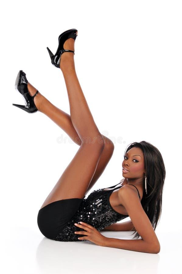 Mulher nova de americano africano imagens de stock royalty free