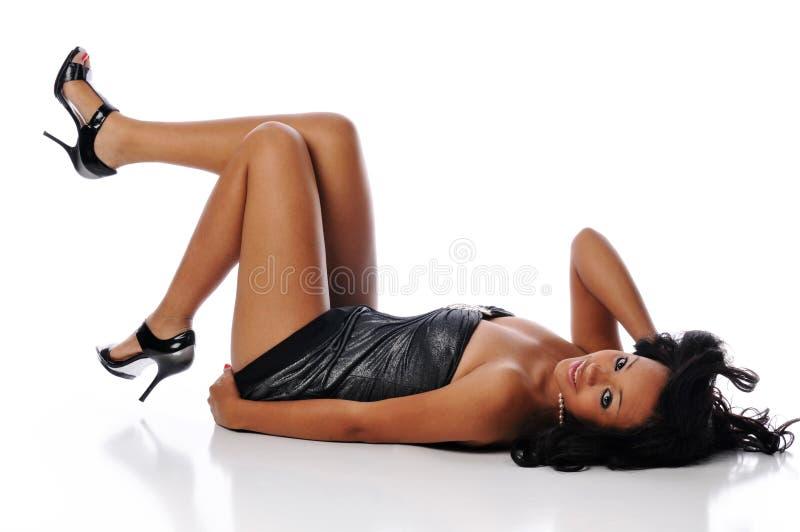 Mulher nova de americano africano imagem de stock