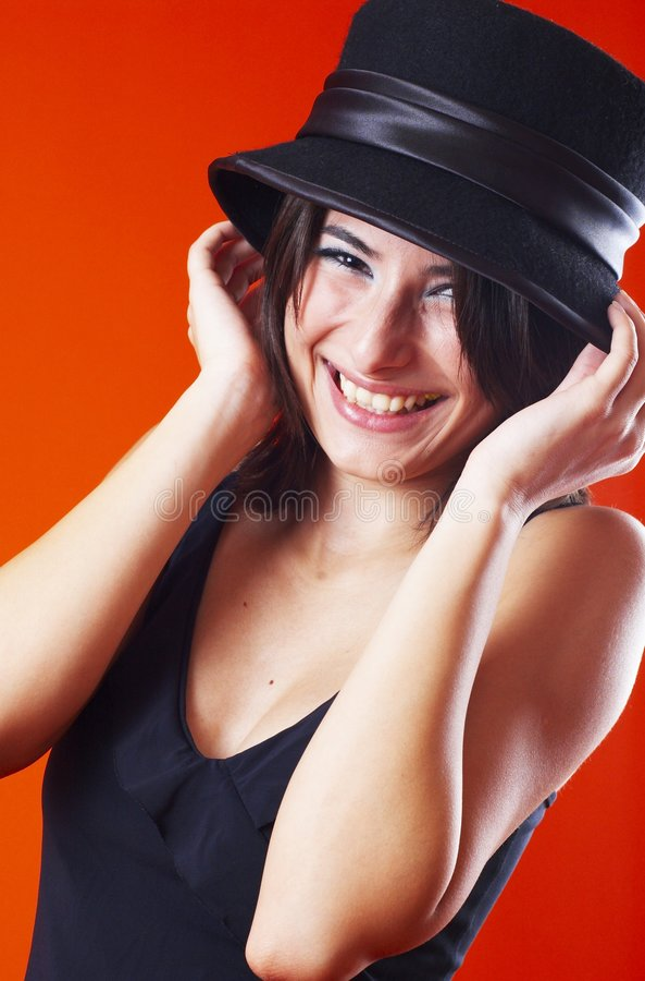 Mulher nova de riso foto de stock