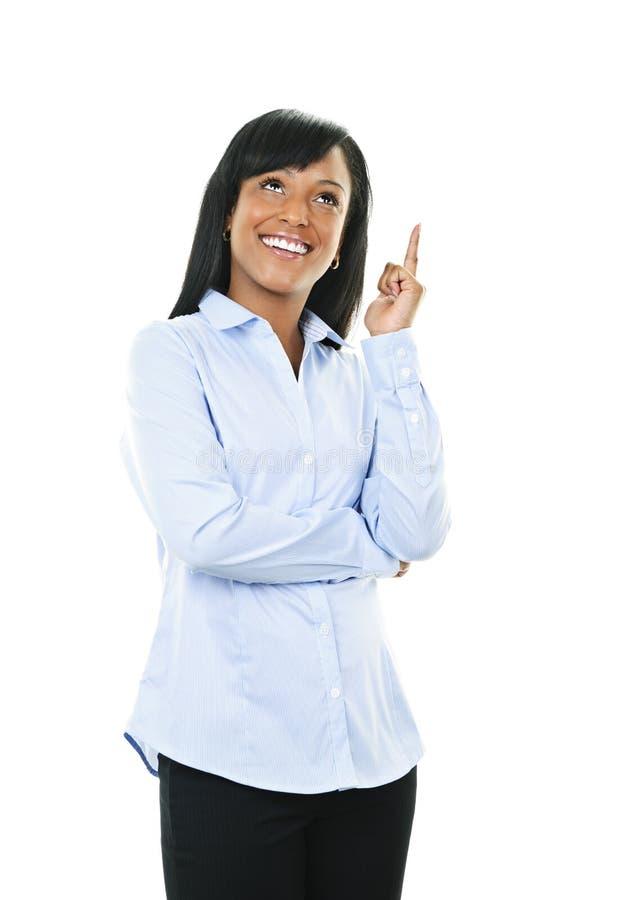 A mulher nova de sorriso tem a idéia imagens de stock royalty free