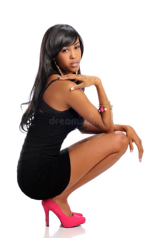 Mulher nova do americano africano fotografia de stock royalty free