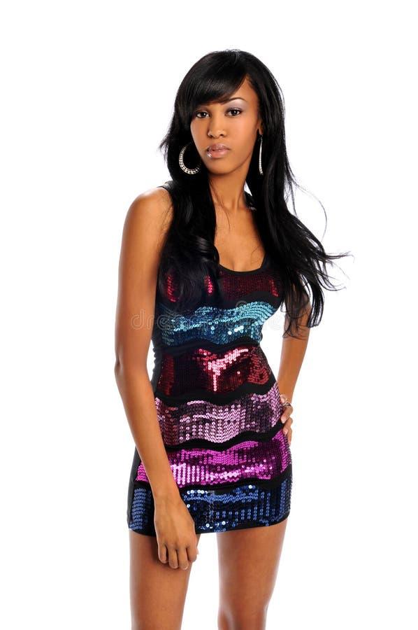 Mulher nova do americano africano imagem de stock royalty free