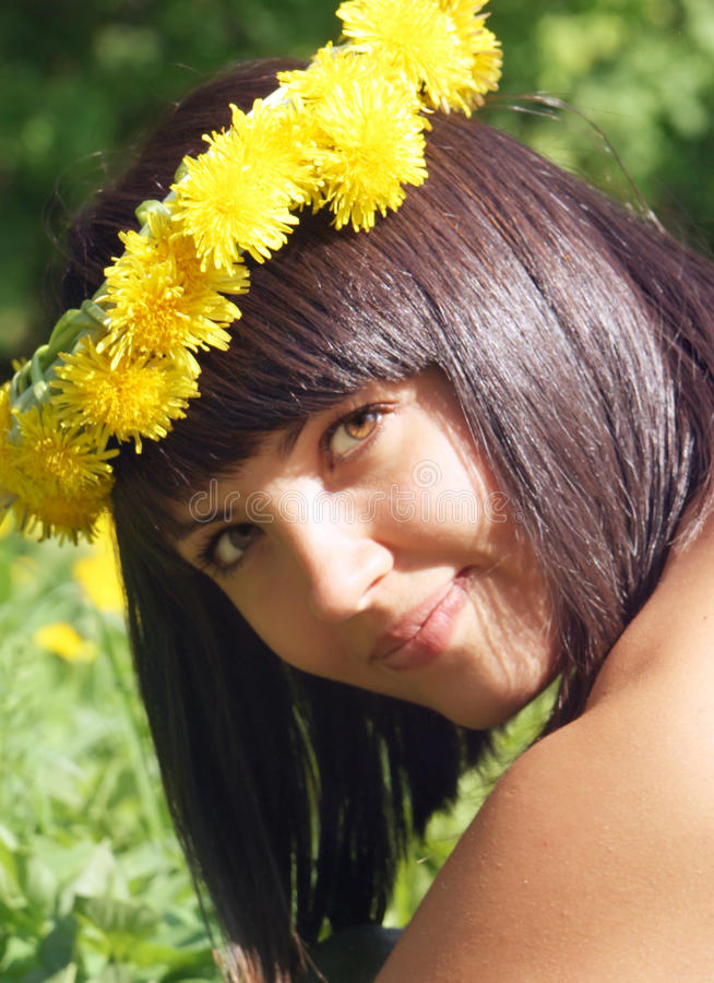 Mulher nova do verão fotos de stock