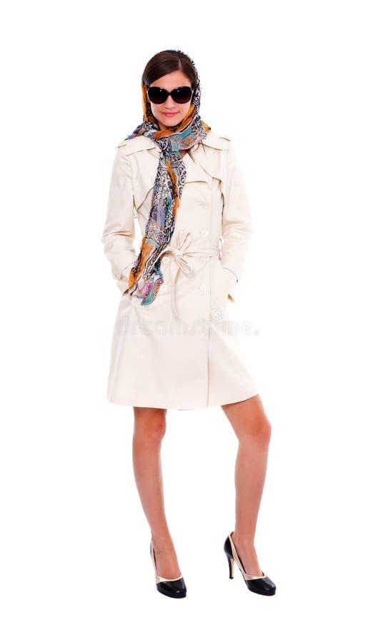 Mulher nova elegante, estilo retro imagem de stock royalty free