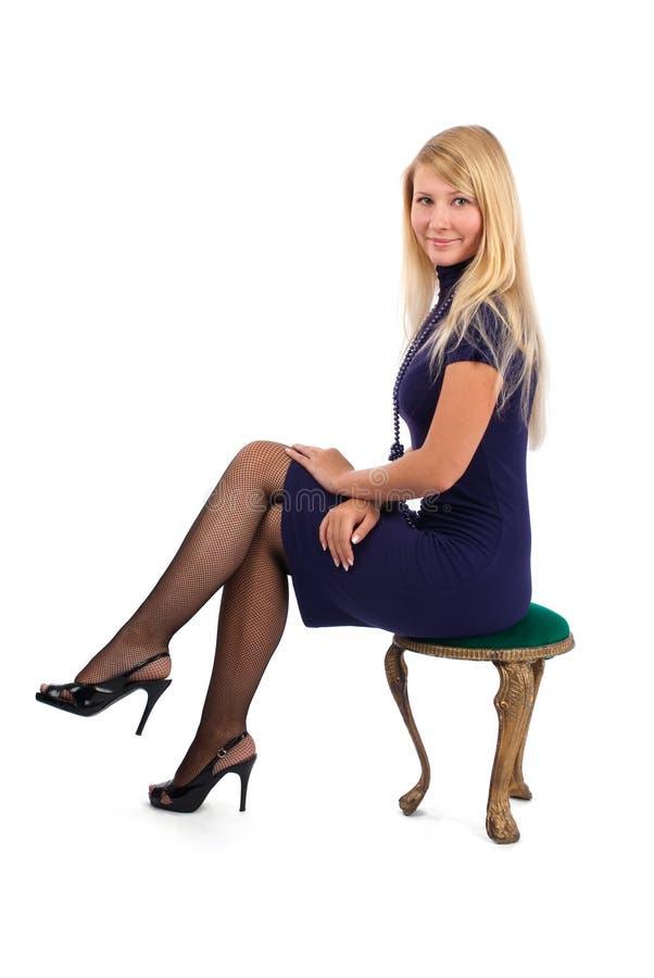 Mulher nova feliz fotografia de stock