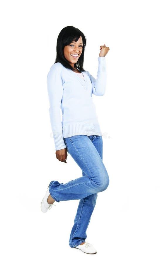 Mulher nova feliz imagens de stock royalty free