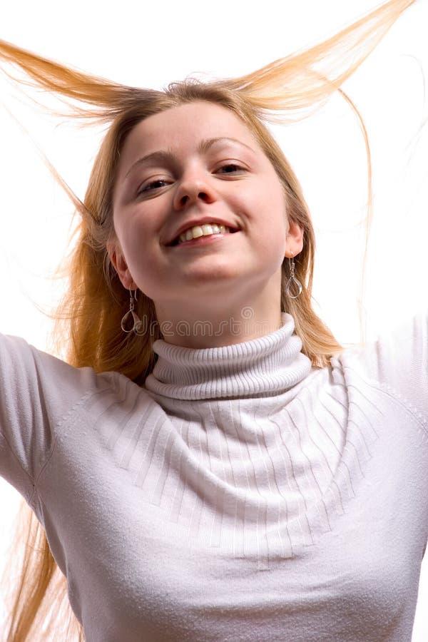 Mulher nova feliz foto de stock