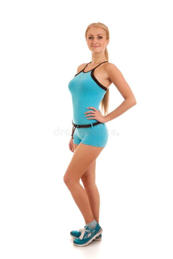 Mulher nova feliz com corpo magro bonito imagens de stock royalty free