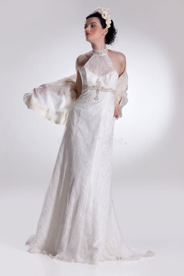 Mulher nova na roupa elegante imagens de stock