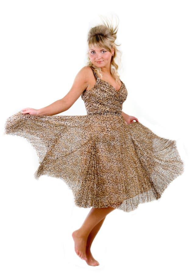 Mulher nova sedutor de dança fotos de stock royalty free