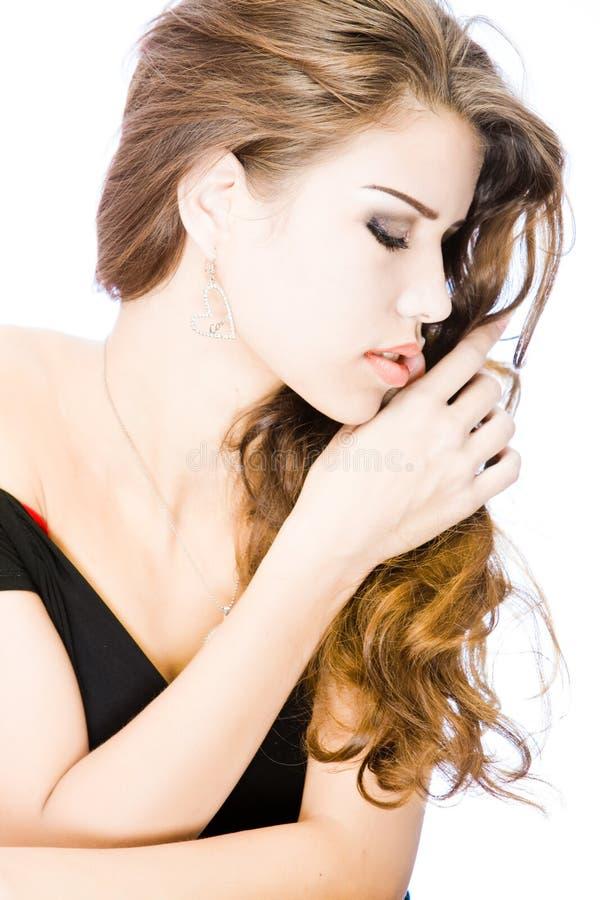 Mulher nova sensual imagem de stock royalty free